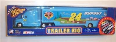 2002 Jeff Gordon #24 Dupont Bugs Bunny Looney Tunes Chevy Monte Carlo Rematch Paint Scheme Hauler Transporter Semi Rig Tractor Trailer Truck 1/64 Scale Winners Circle Metal Cab, Plastic Trailer