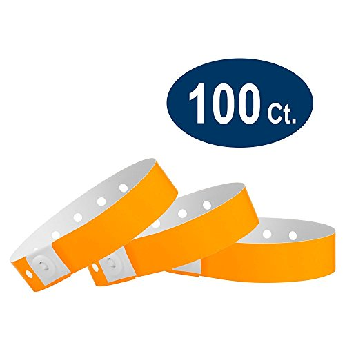 WristCo Neon Orange Plastic Wristbands product image