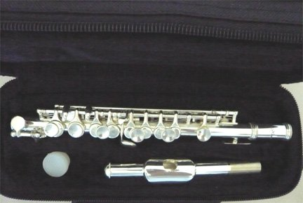 New SILVER C KEY PICCOLO w/Case.Approved+Warranty. by Other