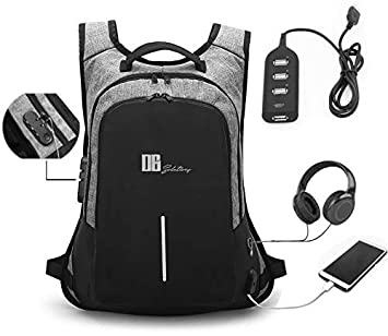 b1e954132e8 Laptop Backpack with Usb Charging Port by DB Solutions | Anti-Theft Lock  and Waterproof