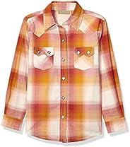 Wrangler Girls Western Long Sleeve Two Flap Pockets Snap Shirt