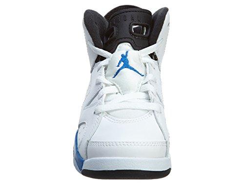 Nike Jordan 6 Retro BP, Zapatillas de Deporte para Niños Blanco / Azul / Negro (White / Sport Blue-Black)