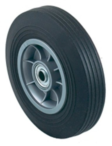Harper Trucks WH 85 Flat-Free Solid Rubber 8-Inch by 2-Inch Ball Bearing Hand Truck Wheel ()
