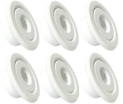 "Happy Tree (6 Pack) 1/2"" IPS Fire Sprinkler Head Escutcheon Standard Recessed Cover Two Piece Rosette White"