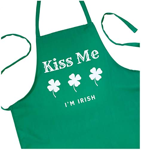 ApronMen Kiss Me I'm Irish Apron - St. Patricks Day - High Def Print Poly Apron