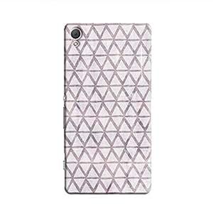 Cover It Up - Triangle Print Purple Xperia Z2 Hard Case
