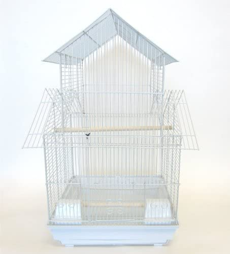 YML 3 8-Inch Pagoda Top Cage in White, 16 by 16-Inch