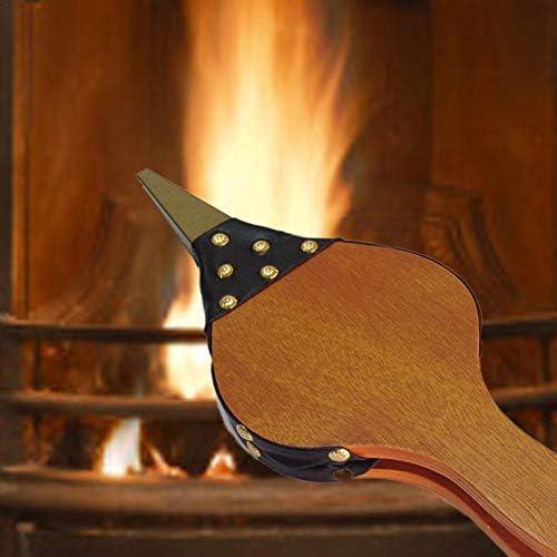 Soufflets de cheminée, soufflerie en bois brun à bec moulé, pour barbecue, foyer extérieur à charbon pour charbon de camping, accessoires pour outils de lutte contre l'incendie