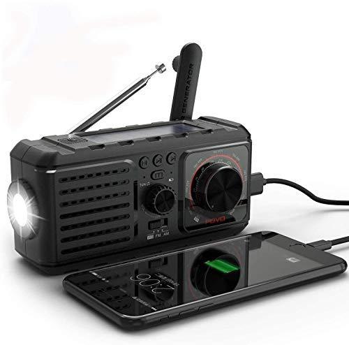 Emergency Weather Radio,Hand Crank 4 Ways Powered