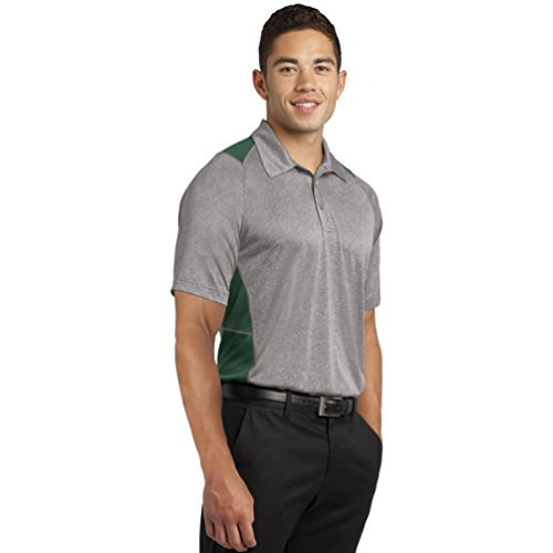 Sport-Tek - Polo - para hombre Verde Vintage Heather/ Forest Green XXXX-Large