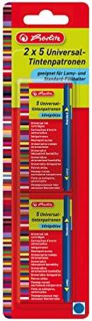 Herlitz 10999852 Universal Ink Cartridges Blue