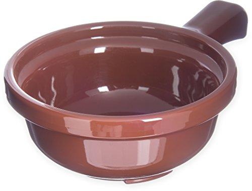 Carlisle 700828 Polycarbonate Handled Soup Bowl, 12-Ounce Capacity, 5-1/4