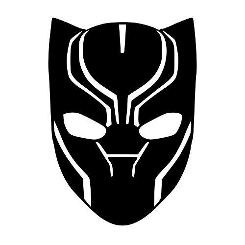 CrazyWEN-Sticker- Black Panther face mask Vinyl Decal, Movie, Avengers, Window Decal, Wall Decal, Vinyl Sticker -