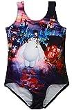 Timemory Girls Frozen & Baymax One Piece Stretching Swimwear Swimsuits