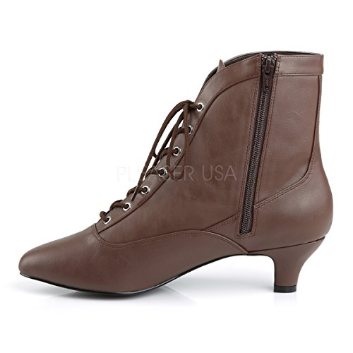 Pleaser Pink Label Womens Comfortable Big Size Booties Fab-1005 Brown brown matte G13jpt