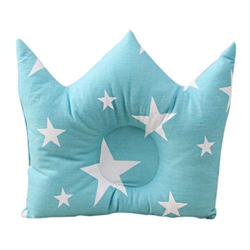 Babykissen Blau Weiss Sterne Krone Lagerungskissen Neugeborenen Anti Kopfverformung Ergonomisch Generic