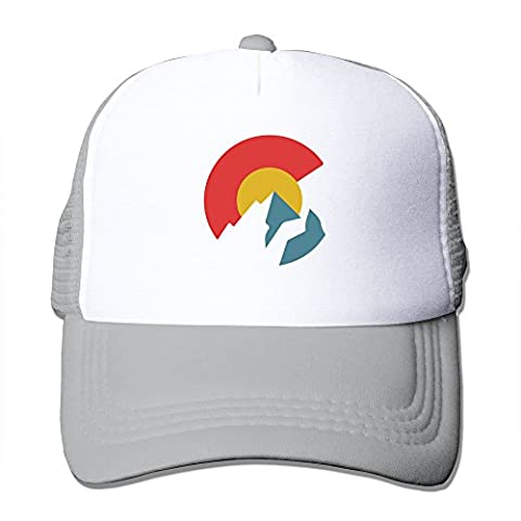 Colorado Flag Ash Mesh Unisex Adult-one Size Snapback Trucker Hats
