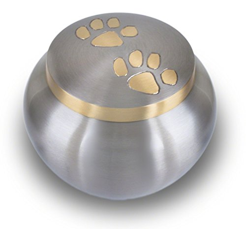 Best Friend Services Odyssey Pewter with Brass Paws (Large) by Best Friend Services