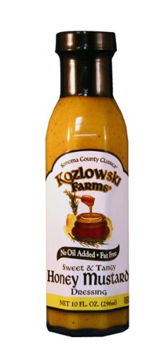 Kozlowski Farms Honey Mustard Dressing, Sweet and Tangy, 10.0-Ounce (Pack of 6)