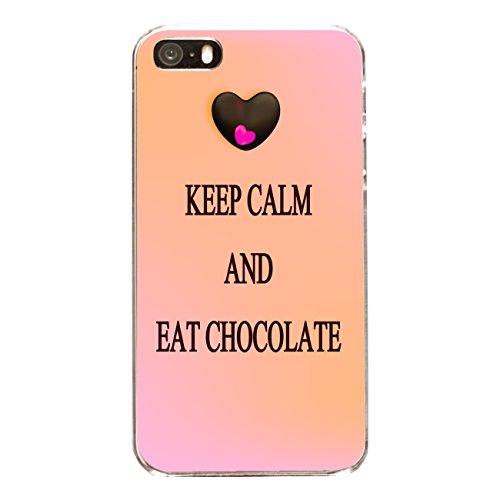 "Disagu Design Case Coque pour Apple iPhone 5s Housse etui coque pochette ""KEEP CALM AND EAT CHOCOLATE"""