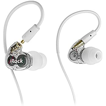 GranVela A8 Dual Driver In-Ear Earphones, Wired Stereo Sport Earbuds with Mic and Noise-isolating Headphones,Dynamic Crystal Clear Sound, Ergonomic Comfort-Fit for Running, Workout, GYM (Clear)