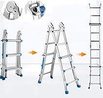HAOHAODONG Escalera Gigante pequeña Hogar multifunción Escalera de extensión Plegable Aleación de Aluminio Escalera de Engrosamiento Escalera de ingeniería Escaleras de ingeniería,fourstepladder: Amazon.es: Hogar