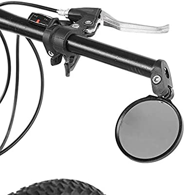 Dioche Espejo retrovisor para Bicicleta, Manillar de Bicicleta Mountain Road Revisión Vista Trasera Trasera Espejo de rotación 180(Negro): Amazon.es: Deportes y aire libre