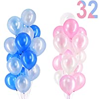 """12"""" Latex Balloons Mix - Pack of 32 - Pink and Blue Gender Reveals Party Decorations"""