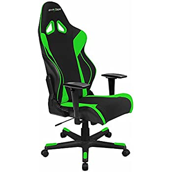 DXRacer Racing Series DOH/RW106/NE Newedge Edition Racing Bucket Seat Office Chair Gaming Chair Automotive Racing Seat Computer Chair eSports Chair Executive Chair Furniture With Pillows (Black/Green)