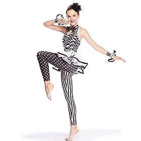 - 41Vk918K 2BOL - MiDee Dance Costume Character Jumpsuit Performance Unitard Halterneck