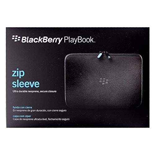 (Blackberry ACC-39318-305 Zip Sleeve for Playbook - 1 Pack - Carrying Case - Retail Packaging - Black/Blue)