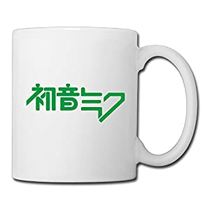 Christina Hatsune Miku Logo Ceramic Coffee Mug Tea Cup White