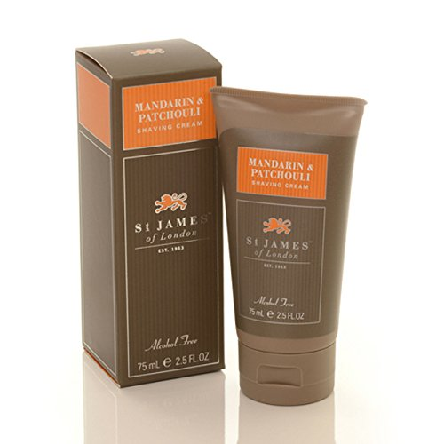 Mandarin and Patchouli Travel Shave Cream 2.5oz shave cream by St. James of - St James Store