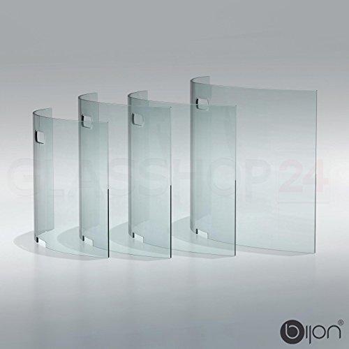 bijon® Kamin Ofen Glas Funkenschutzgitter Funkenschutz Schutzgitter | 75x50x16cm (BxHxT)