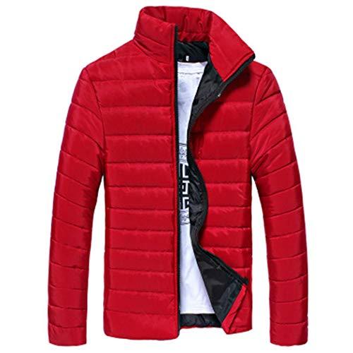 Hommes Col Rouge Longues Manteau Oplon Pour D'hiver Montant À Avec Manteaux Manches Px684nYSqw
