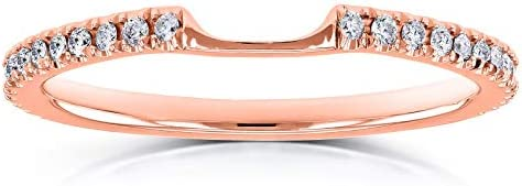 Kobelli Lab Grown Diamond Notched Shadow Wedding Band 1/8 CTW 14k Rose Gold (DEF/VS)