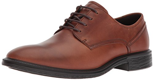 ECCO Men's Knoxville Tie Oxford, Cognac Plain Toe, 46 M EU (12-12.5 US)