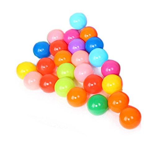 Vktech Jocestyle Colorful Ball Soft Plastic Ocean Balls Funny Baby Kid Swim Pit Toy (100pcs) (25 Pcs)