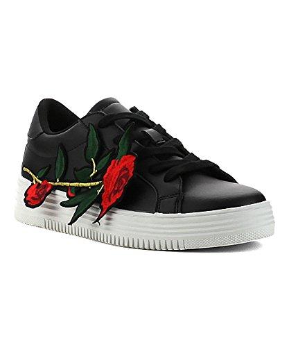 Scarpa Sneaker Allacciata Per Donna Con Cutie Rosa Accento Moda