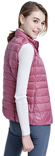 Sawadikaa Mujer Ultra Ligero Apilable Chaleco Abajo Chaqueta de Invierno Anorak Gatos Rosado