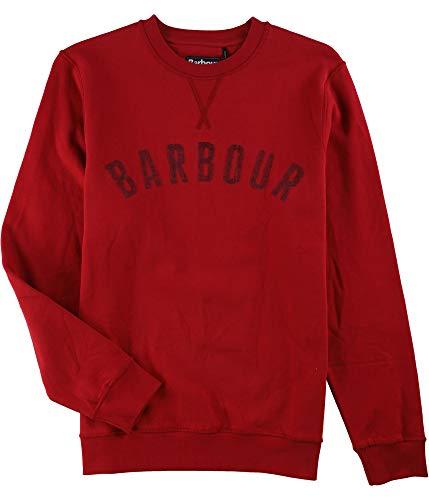 Barbour Rich Mens Pullover Crewneck Fleece Sweater Red - Barbour Fleece