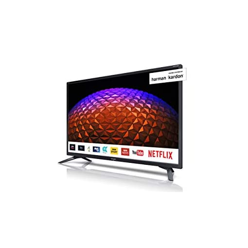 Sharp 1T-C32BC4KH2FB 32 Inch HD Ready LED Smart TV with Freeview Play, 3 x HDMI, Mini Scart, USB Record