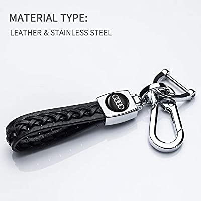 Hey Kaulor Leather Car Key Cover Baby Calfskin Genuine Leather Suit for 2020 a4 q7 q5 a3 a6 sq5 r8 s5 Key fob Cover case Holder: Automotive
