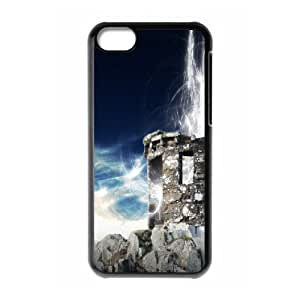 XiFu*Meiiphone 5/5s Cases Old Stone House, iphone 5/5s Cases for Girls with Designs - [Black] OkaycosamaXiFu*Mei