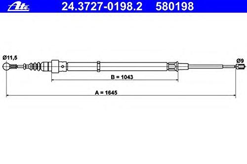frein de stationnement ATE 24.3727-0198.2 Tirette /à c/âble