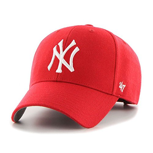 '47 MLB New York Yankees Men's Brand Bullpen MVP Cap, Red, One-Size - Mvp Cap