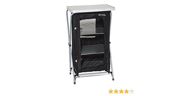 Eurohike 4 Estante Muebles Plegables de armarios Camping de Almacenamiento Negro