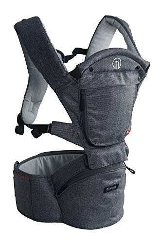 MiaMily Hipster 3D Smart Baby Carrier with up to 9 Carrying Position and Ergonomic Design Includes New Features like External Pockets, Pacifier Clip Loop, and Key Clip & Credit Card Holder
