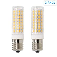 E17 LED Dimmable, All-NEW(102LEDs) E17 Led Bulb, 7W 75W Equivalent,730LM, AC110-130V, E17 Intermediate Base, for Microwave Oven lighting ,Warm White, 2-Pack