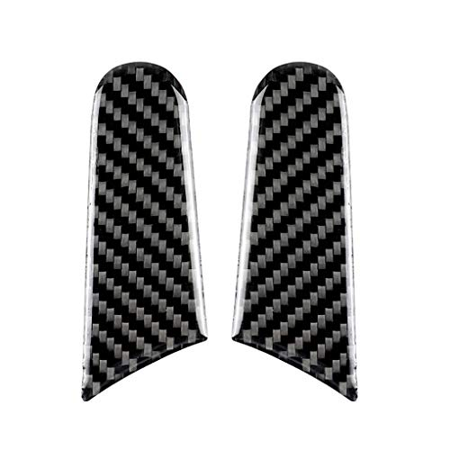 - qotone Replacement for Porsche Macan 2pcs/Set Rearview Mirror Carbon Fiber Cover Sticker Decoration